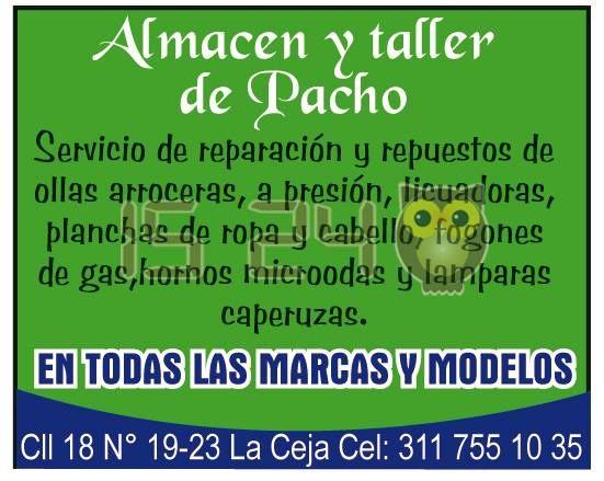 Almacén y taller Pacho. Servicio, reparación y repuestos.