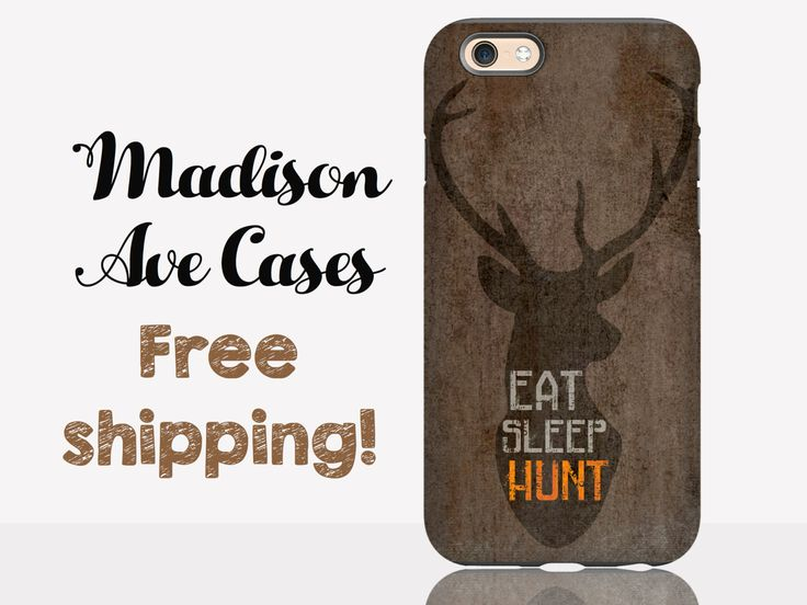 Eat Sleep Hunt Hunting Deer Redneck Country Guys Dad Son Boyfriend Mens Valentine Gift Outdoor Galaxy Edge iPhone 4 4s 5s 6s Plus Phone Case