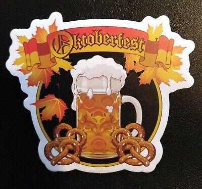 Germany Oktoberfest Beer and Pretzel Skateboard Snowboard Bumper Sticker Decal #…