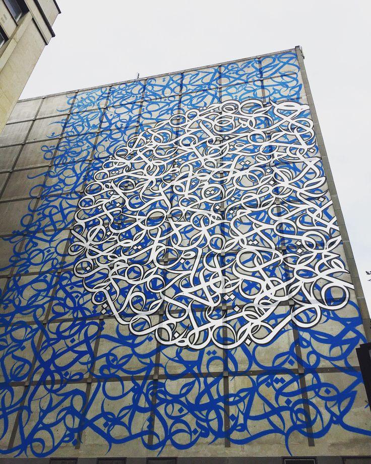 Blue #hydrangeas by @elseed #elseed #hortensia #calligraphy #streetart #graffiti #graff #spray #bombing #sprayart #wall #instagraff #instagraffiti #streetartist #urbanart #streetartparis #wallporn #streetarteverywhere #graffitiart #graffitiporn #streetphoto #urbanwalls @institutdumondearabe #paris