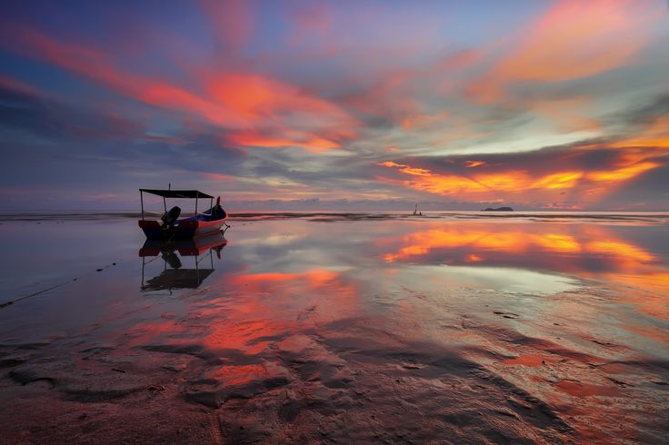 ... the red boat | Sunset | by Keris Tuah