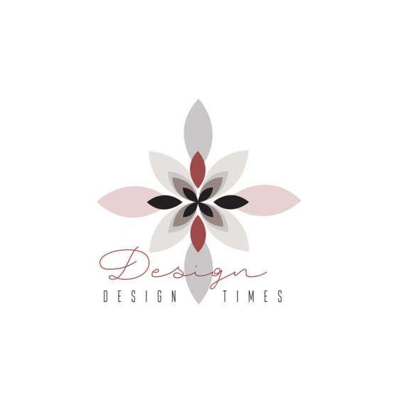 Flower logo design logo brown logo pre made logo business by Esani