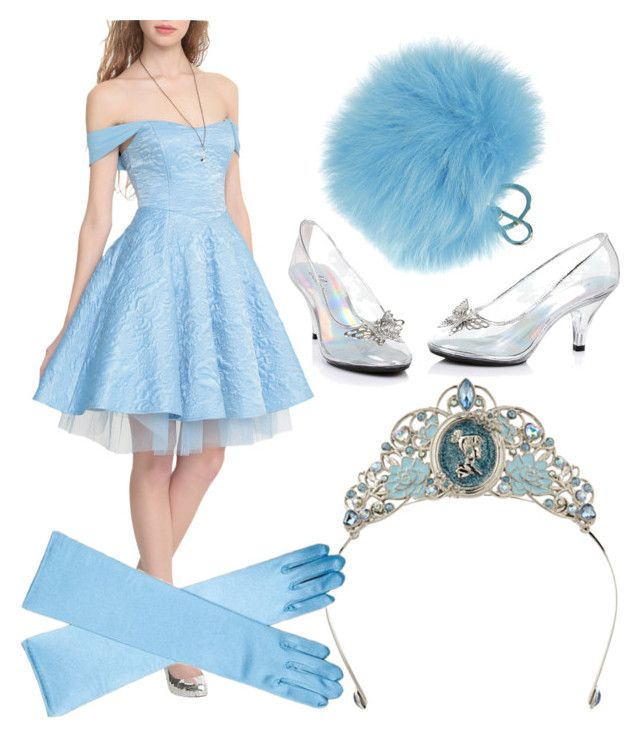 """""""Cinderella costume, diy, halloween"""" by icy-frappe on Polyvore featuring Disney and Furla"""