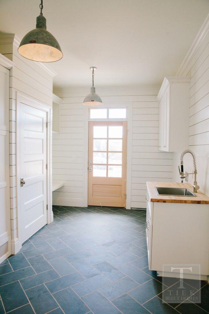 Ship Lap Herringbone Floors Farmhouse Cottage Mudroom Laundry Room Laundry Room Mudroom