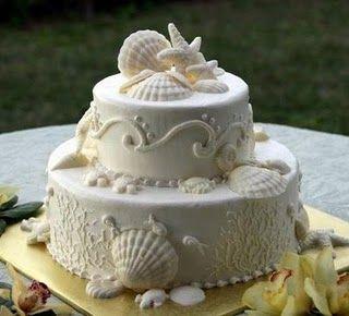 Pasteles de boda para una fiesta en la playa   Bodas   Wedding cake for a beach party