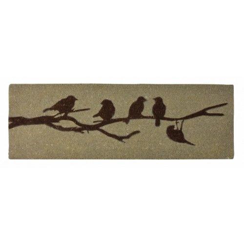 Kokosdeurmat met vogels