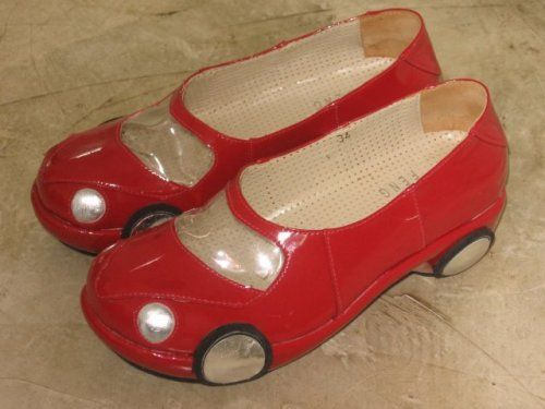 Hot Wheels shoes designed by Ronaldo Frago. The perfect shoe for mothers on the go since shoes can double as entertaining toys for small children