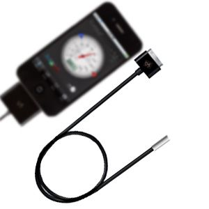 http://www.egenkontroll.nu/Mat-temperatur/Temperaturgivare-iPhone-iPad-iPod-Professional.html  Temperaturgivare iPhone/iPad/iPod Professional  Gör om din iPhone till termometer! Ladda ner från App-Store Inget extra batteri...