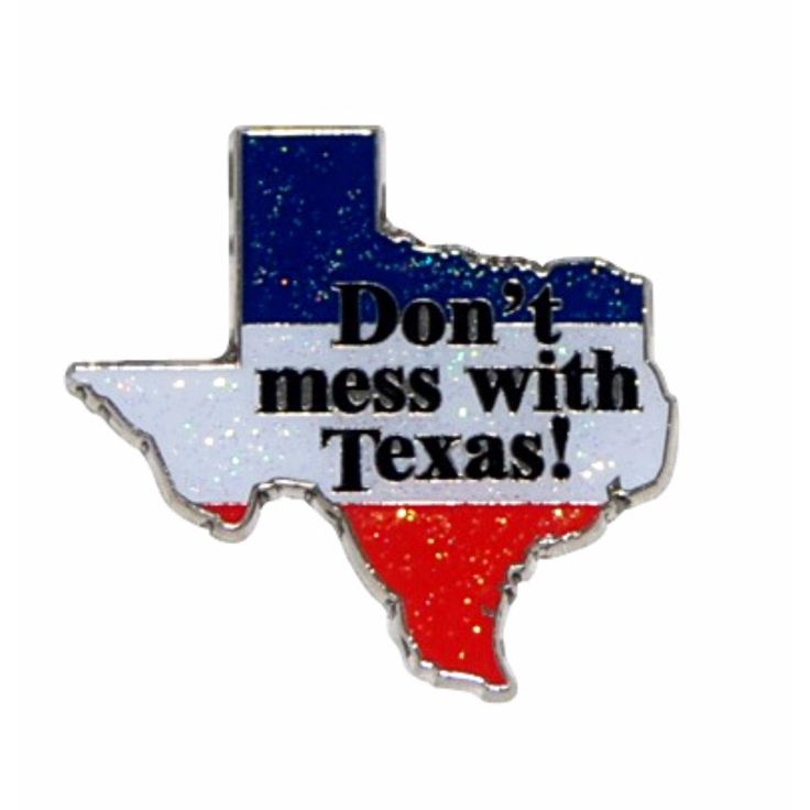 Don't Mess With Texas Metal Glitter Magnet