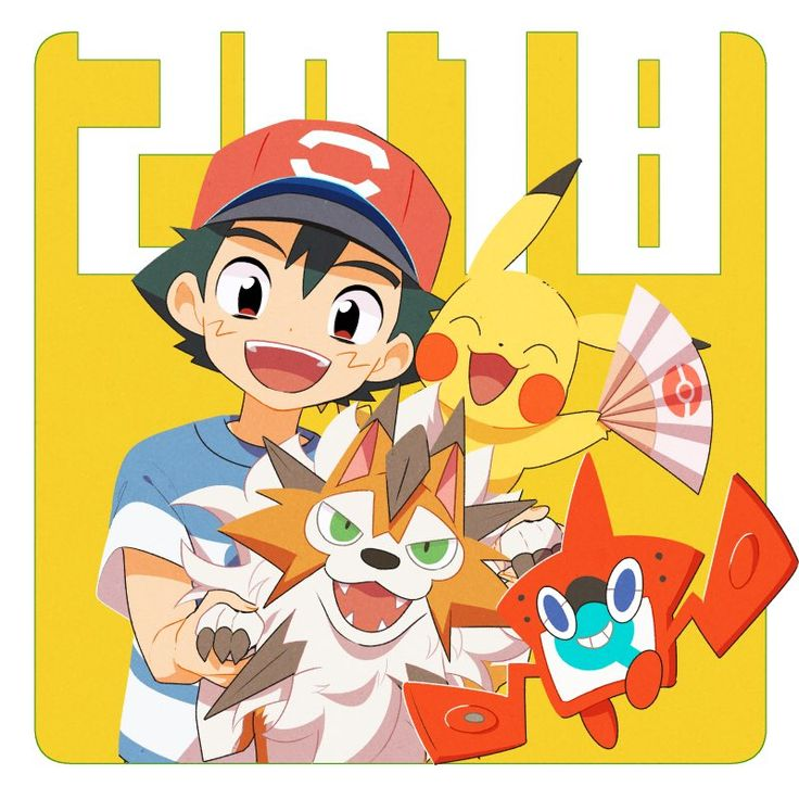 Ash and his team