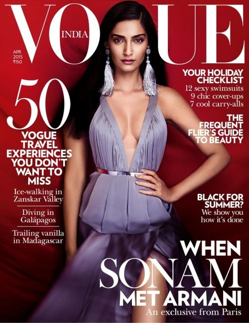 Sonam Kapoor stuns for VOGUE India | Photographed by Kristian Schuller.