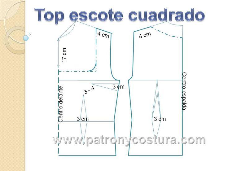 top señora cuello cuadrado | patronycostura.blogspot.com.es ...
