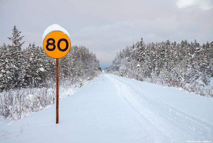 Spår, skoterspår, norra Inlandsbanan vintertid