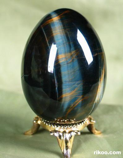 Blue & Gold Tiger Eye Crystal Egg