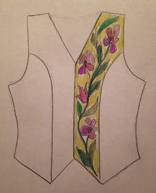 Plan quilting for a garment
