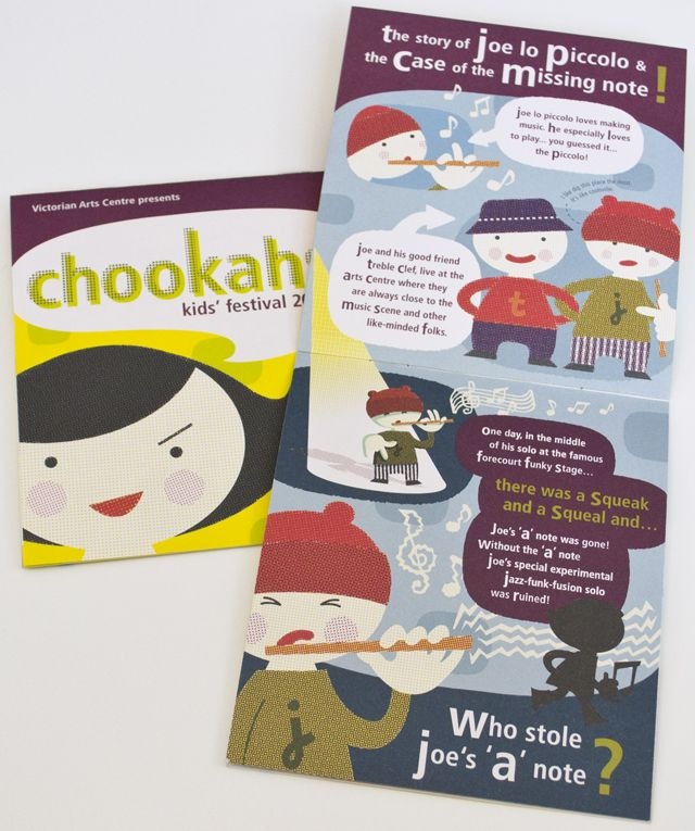 Chookahs! Victorian Arts Centre Kid's Festival program by Saskia Ericson.