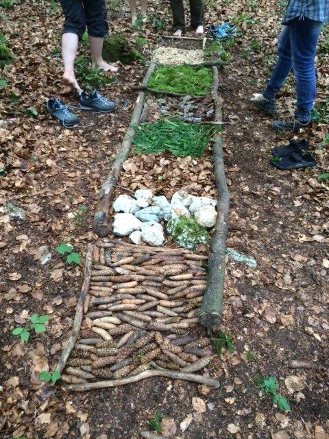 ecoles enfantines - Parcours pieds-nus en forêt