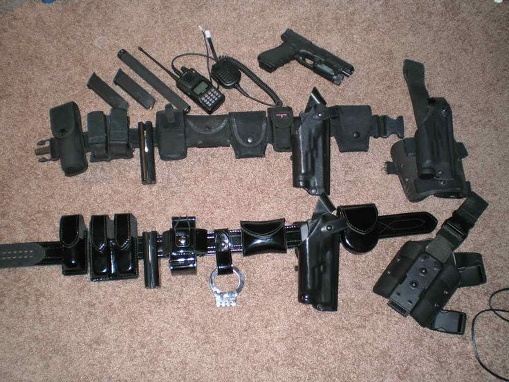 Gear of a police officer