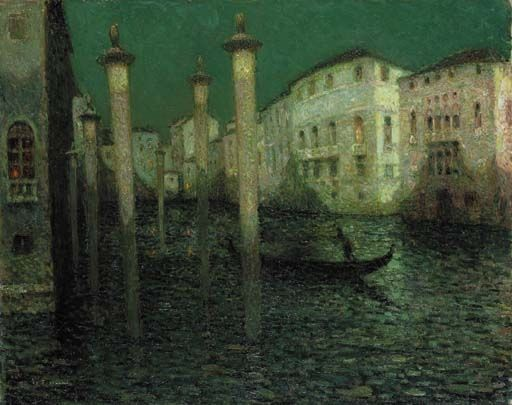 Henri Eugène Augustin le Sidaner, Le Grand Canal, Venise, 1931