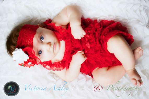 Holiday Petti Romper/Red Petti Romper/Newborn Petti Romper/Baby Lace Dress/Girl Headband/Petti Romper Set/Christmas Petti Romper/Girl Romper