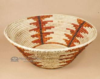 """Deep Woven Old Style Basket 18"""""""" (a27)"""