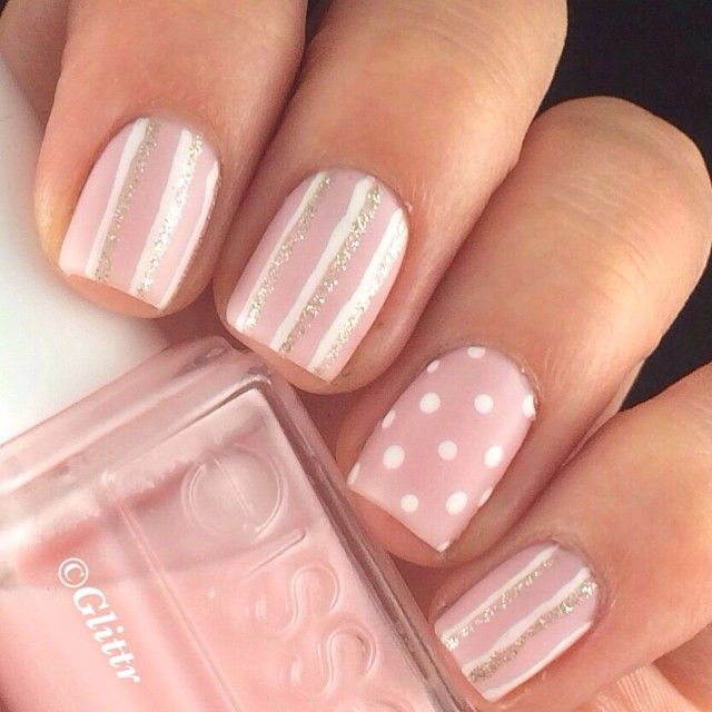 Dot and stripe nails