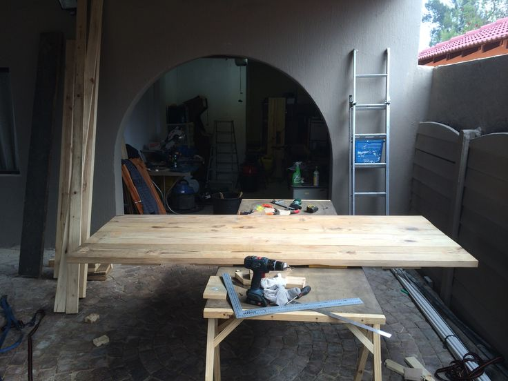 Dinning room table top project.