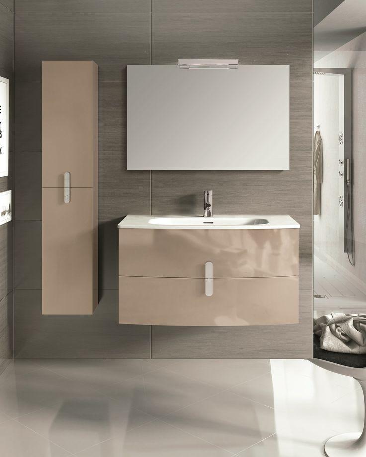 """Eviva Cali 39"""" Wall Mount Brown Modern Bathroom Vanity 2 Functioning Drawers"""