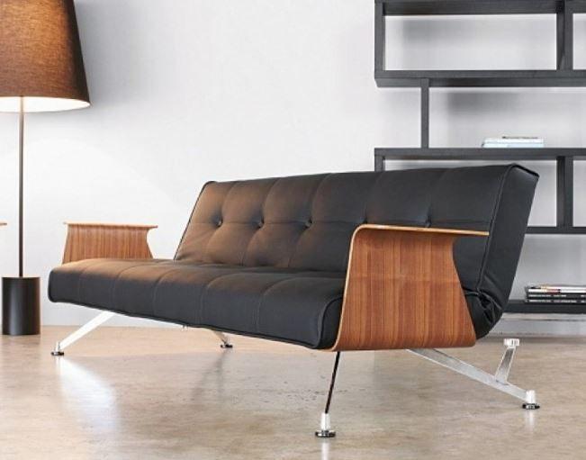 schones wohnzimmer sofa bett vintage kürzlich abbild oder bceecbdbafaffca black faux leather innovation
