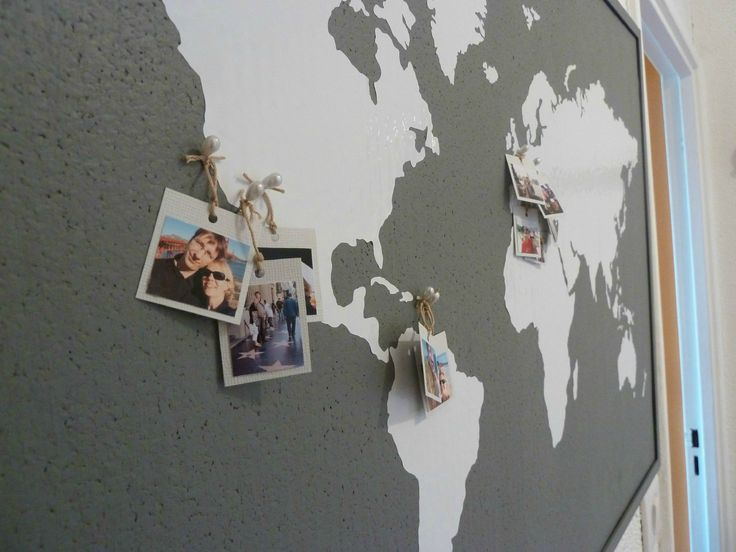 Coin bureau tableau carte du monde crafty pinterest - Carte du monde tableau ...