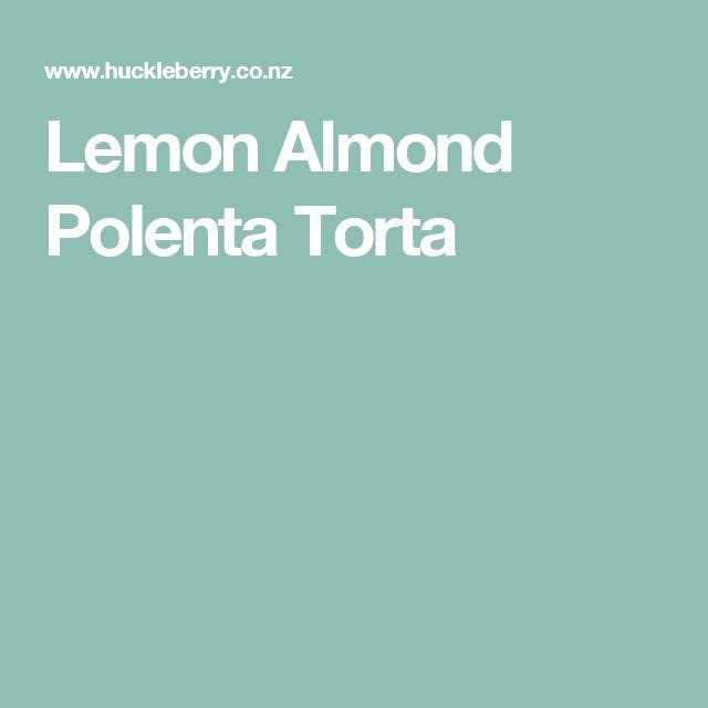 Lemon Almond Polenta Torta