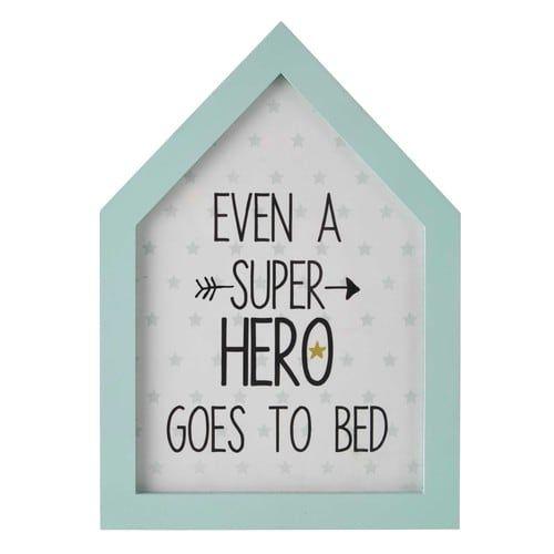 Cadre bleu 20 x 28 cm SUPER HERO
