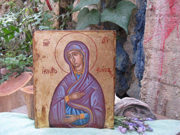 Childbearing Virgin Mary contemporary religious art