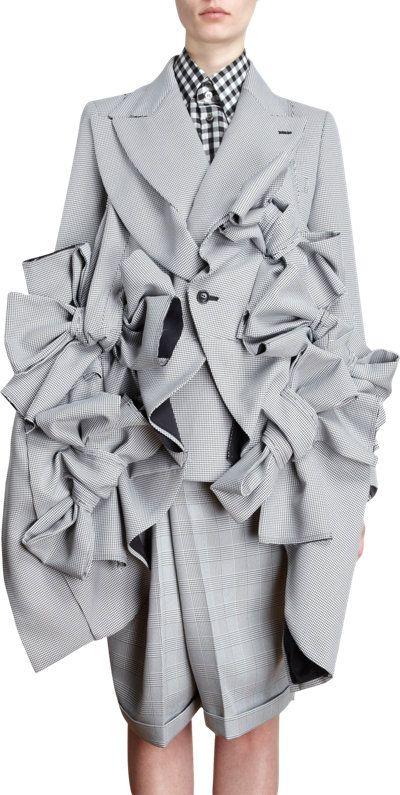 Comme des Garcons Houndstooth Multi Bow Jacket at Barneys.com