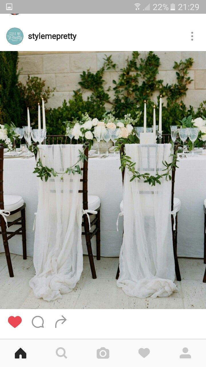 Chairs Wedding chair decorations, Wedding chair sashes