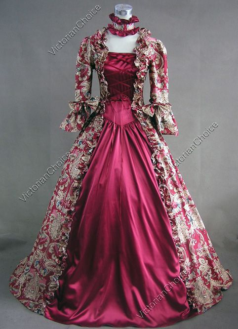 Victorian Dresses | Victorian Gothic Jacquard Dress Wedding Ball Gown 138 L - US$ 124.8 I would prefer it in blue.