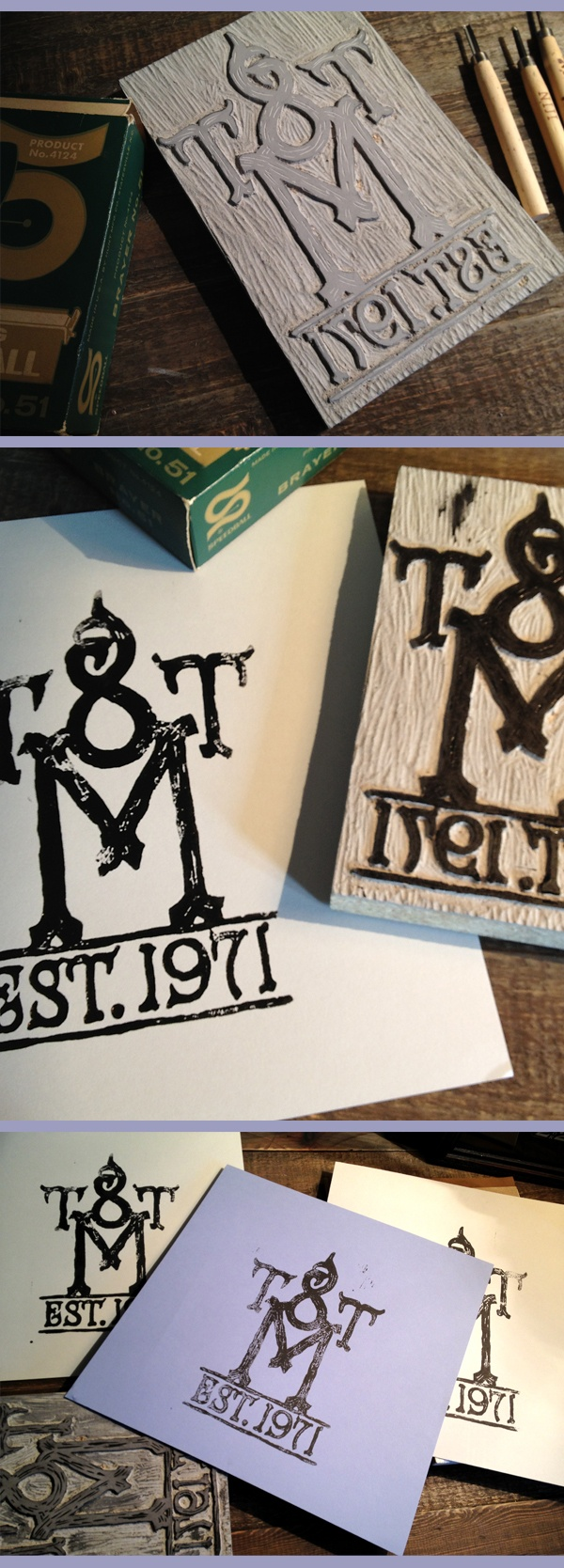 t8tm linocut; note the letters are backwards!