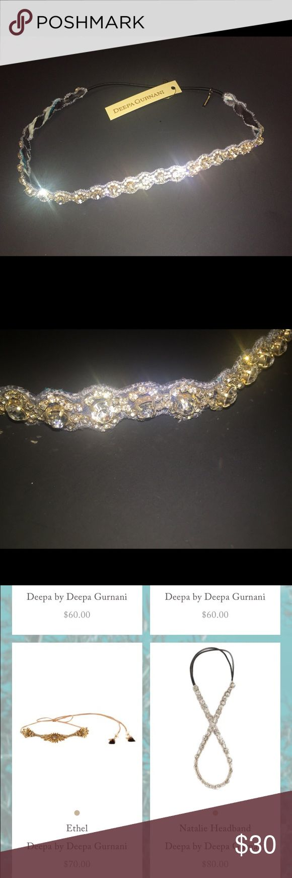 NWT DEEPA GURNANI HEADBAND Gorgeous, sparkly Deepa Gurnani Headbad. NWT, has never been worn. Perfect for special events or to dress a look up. Deepa Gurnani Accessories Hair Accessories