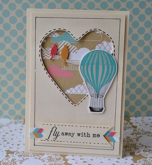 heart air balloons card handmade card air balloon theme how all 4652