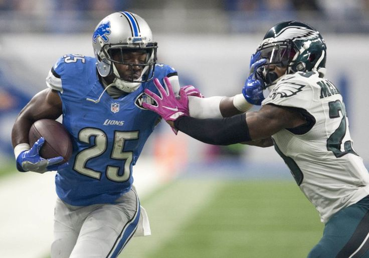 Eagles vs. Lions:  24-23, Lions, October 9, 2016  -         Detroit Lions running back Theo Riddick (25) moves against Philadelphia Eagles free safety Rodney McLeod (23) during the first quarter at Ford Field. (Raj Mehta|USA TODAY Sports)
