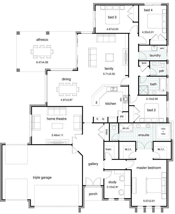 834 best house plans images on pinterest floor plans house sandhurst modern floor plang 18852315 pixels malvernweather Images