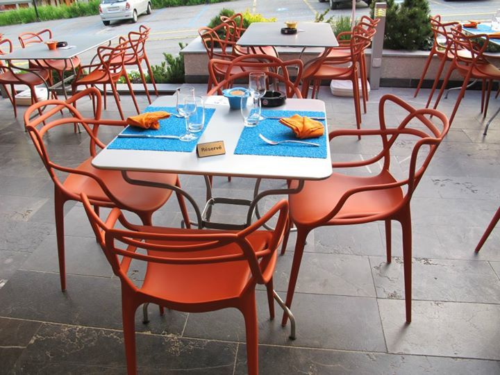 Masters Chairs By Philippe Starck At Lu0027Escale Restaurant/Hôtel (Le Châble,