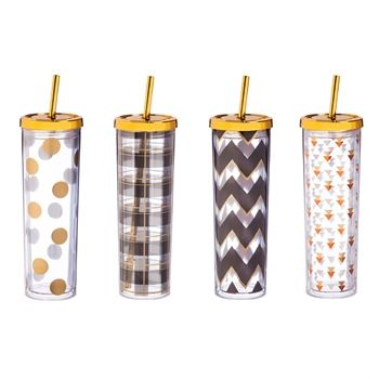 Skinny Tumbler with Freezable Ice Cubes