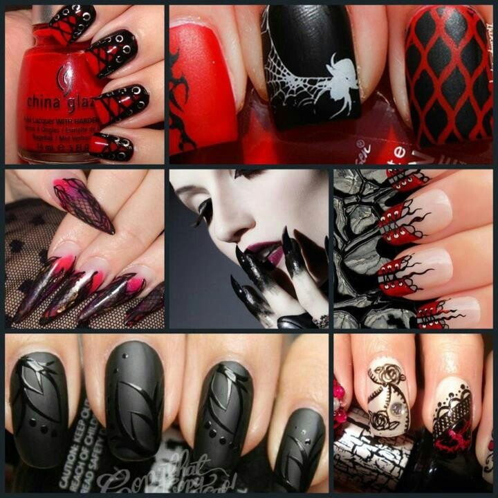 Love all these gothic nail designs - 63 Best Gothic Nail Designs Images On Pinterest Nail Designs