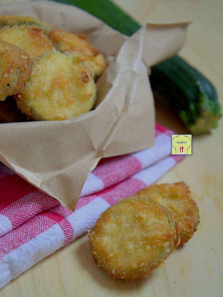 chips di zucchine fritte al formaggio