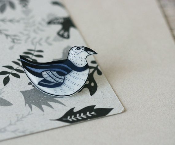 Extinct Birds  Great Auk  Pin by LilaRubyKingShop on Etsy, $19.00