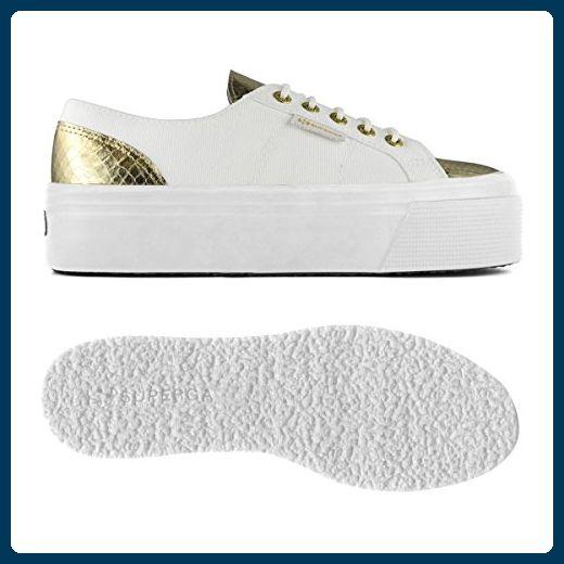 Damenschuhe- 2790-cotleasnakew - White-Gold - 38 - Sneakers für frauen (*Partner-Link)