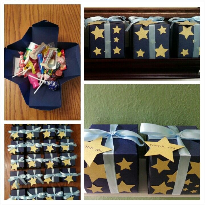 """Party Favor BoxesBags!!! Inspired from the book """"Le Petit Prince"""""""