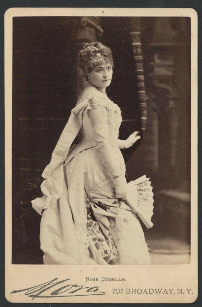 Irish actress Miss Rose Coghlan. Early 1880s. Tempus fugit, mors venit....