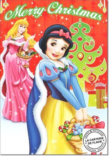 Cartes Disney Noël Princesse Offrez une vraie et jolie carte, livraison gratuite à retrouver:   #Disney #Princesse #BlancheNeige #Raiponce #Aurore #Belle #Noël #JoyeuxNoel #Disneyland